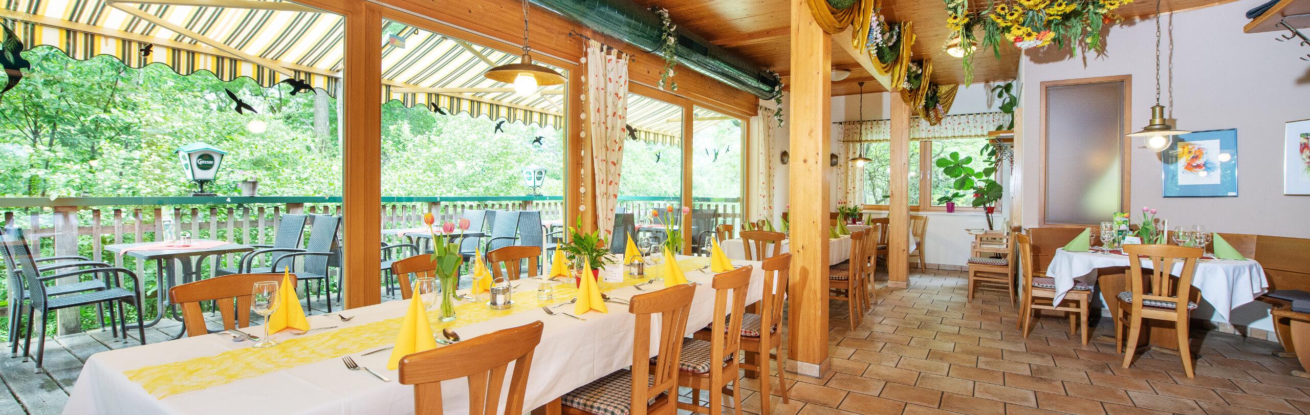Gastraum Naturfreunde Bootshaus St. Pölten