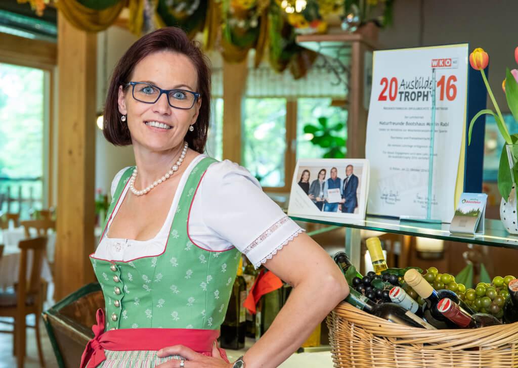 Christiane Rabl vom Naturfreunde Bootshaus St. Pölten
