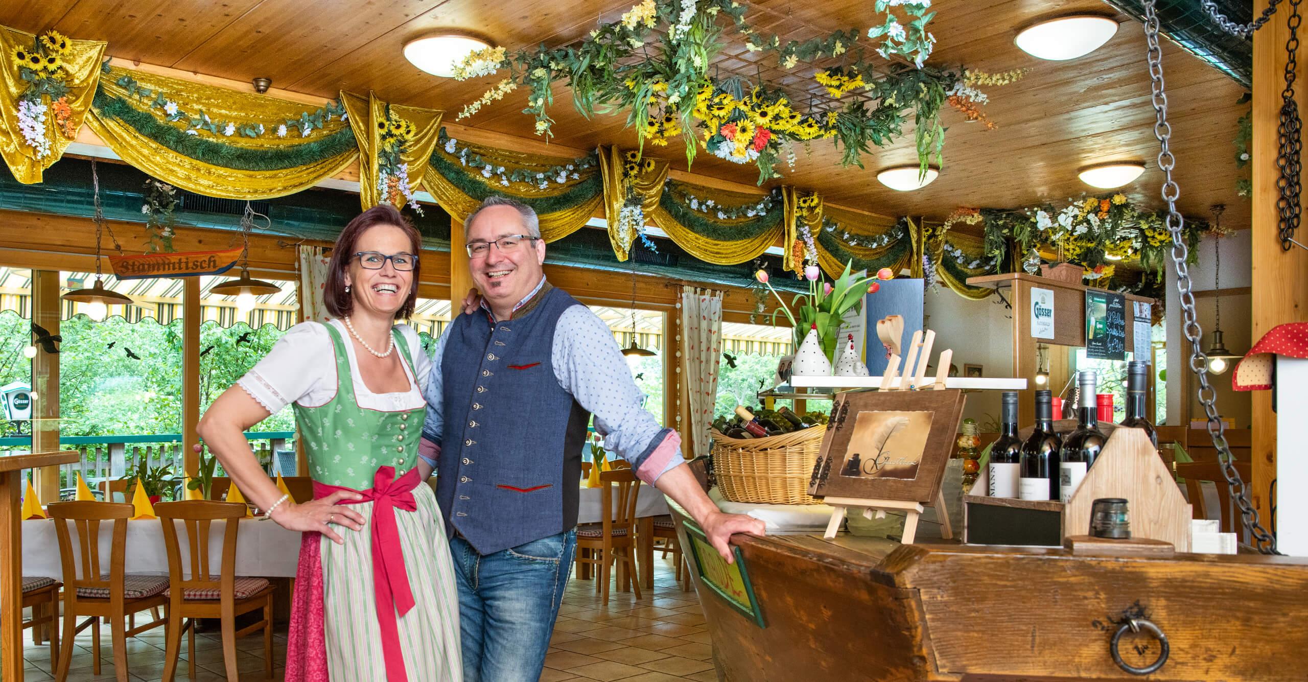 Christiane und Martin Rabl im Bootshaus St. Pölten